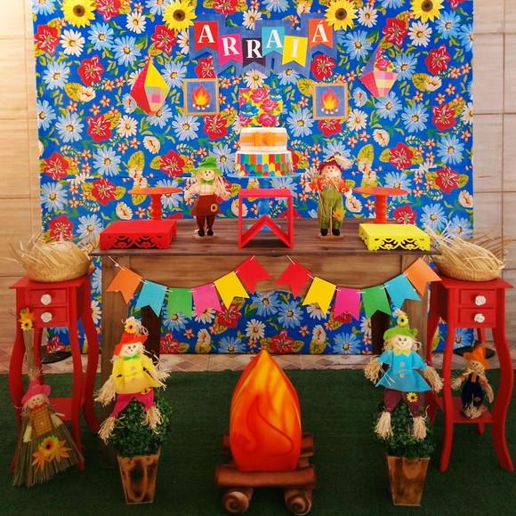 Decoraç u00e3o Festa Junina LOCA u00c7ÃO no Elo7 Rede Festas Decorações (C6D2D3) -> Decoração Tnt Festa Junina
