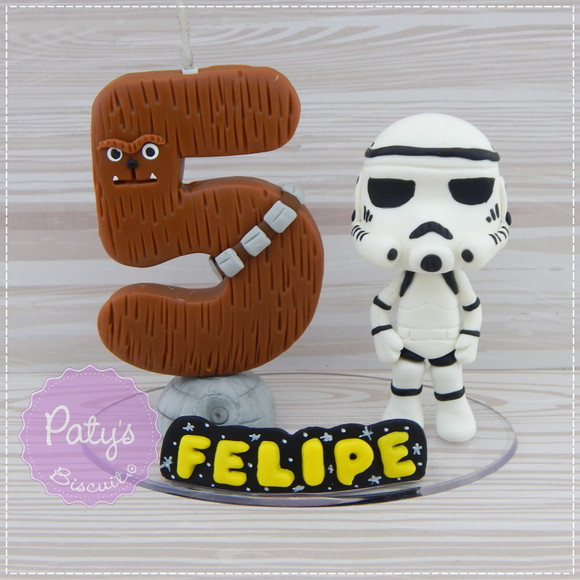 Mini Topo com vela Stormtrooper - Star Wars