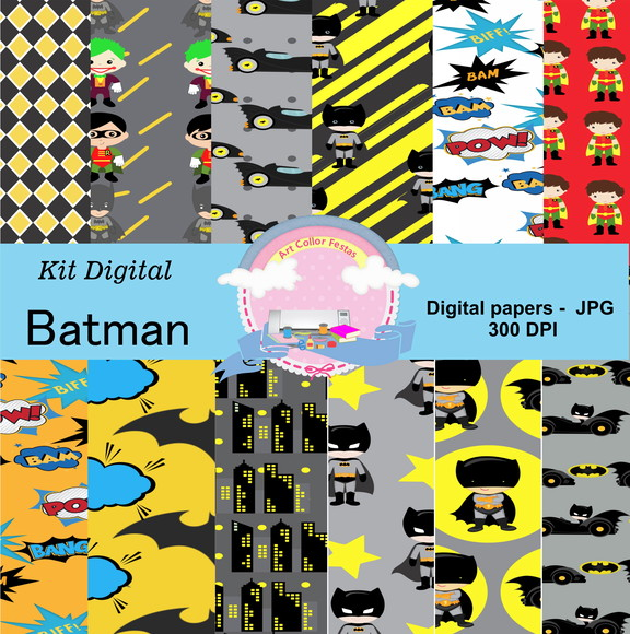 KIt Digital papeis Batman