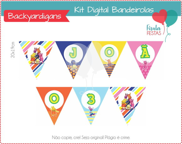 Kit Digital Bandeirolas Backyardigans