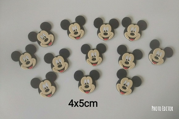 Aplique do Mickey 10unid.
