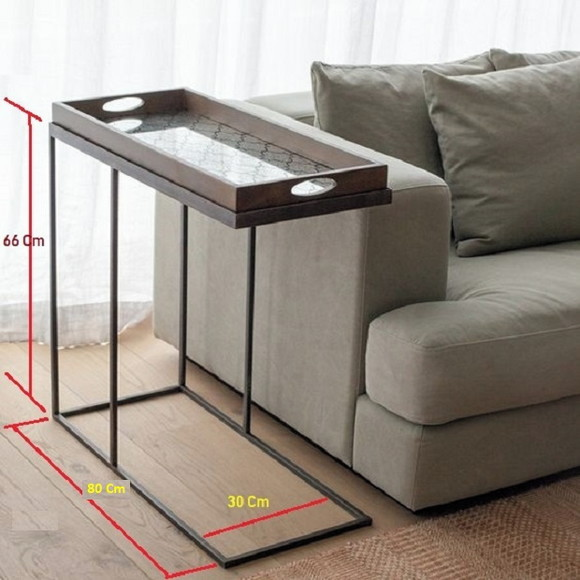 Mesa de Apoio para Sofa 30x30 Cm   Elo7