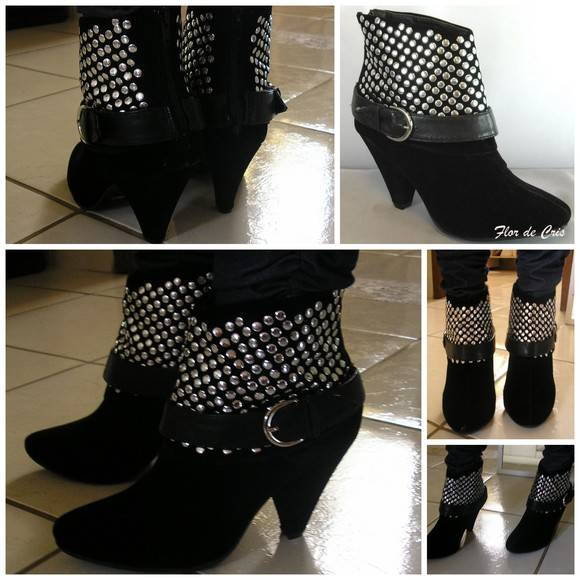 FRETE GRÁTIS 15%off Ankle Boot Tachas
