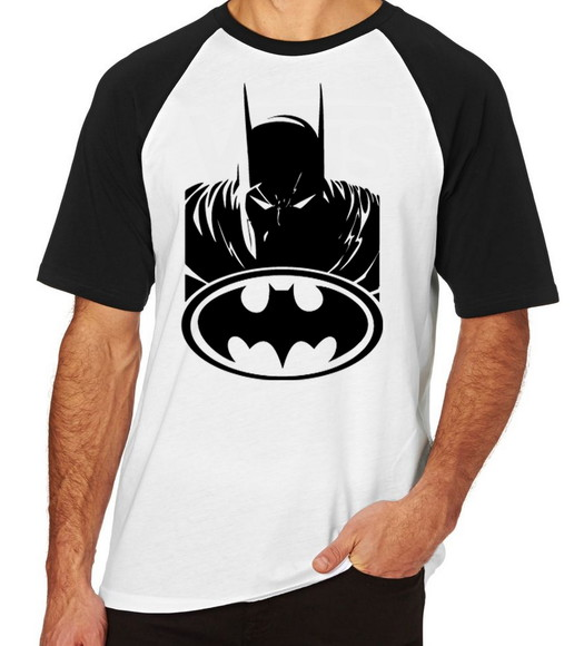 7bdf29c31 Camiseta Raglan Blusa Camisa Unissex Batman Morcego Heroi