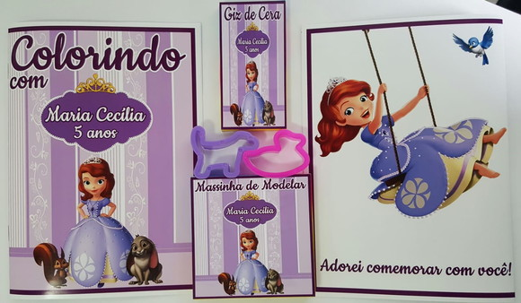 Kit Colorir com Massinha Princesinha Sofia
