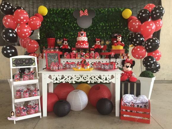 Festa da Minnie Vermelha Elo7 -> Decoraçao De Festa Da Minnie Vermelha Simples