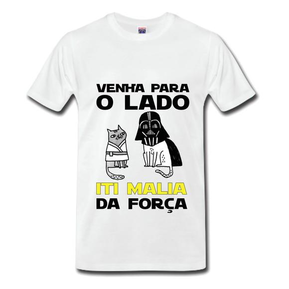 Camisetas personalizadas com frases - Em poliéster