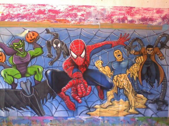 Painel Spider Man e Inimigos