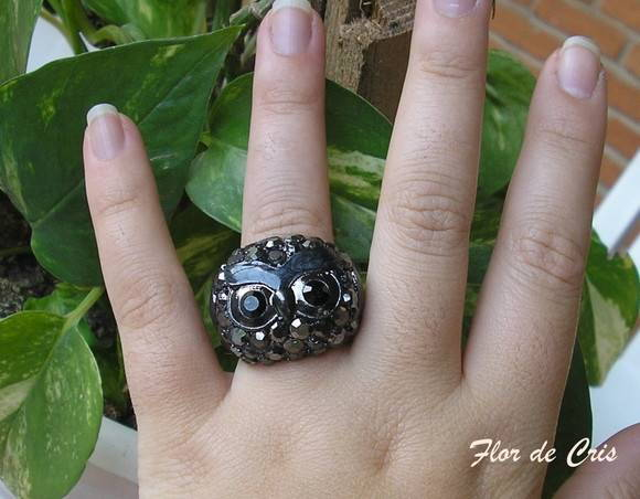 Black Owl Ring