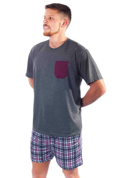 789386d71 Pijama Masculino Curto com Short Samba Cancao
