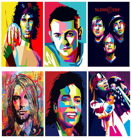 Placas Decorativas Do Rock Pop Arts