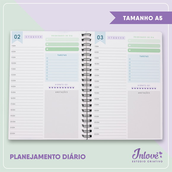 Miolo digital agenda permanente Baby Colors A5