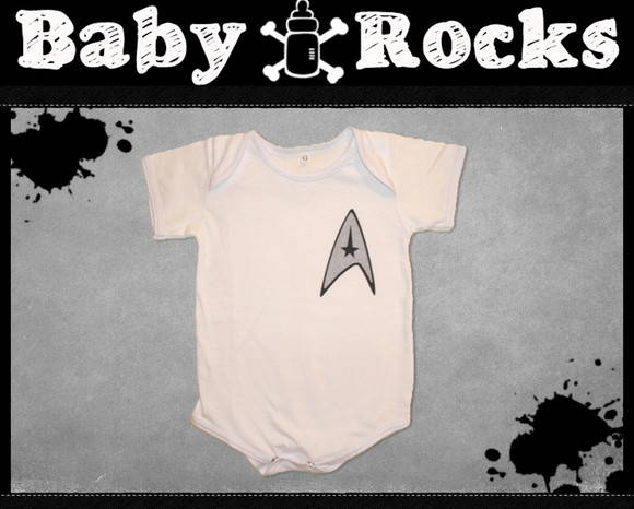 Body ou Camisetinha branca Star Trek