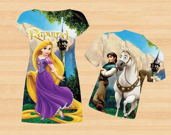 99b1adf95 Kit Pai Mãe e Filha Rapunzel - 3 peças no Elo7   Pacotinhos Baby ...