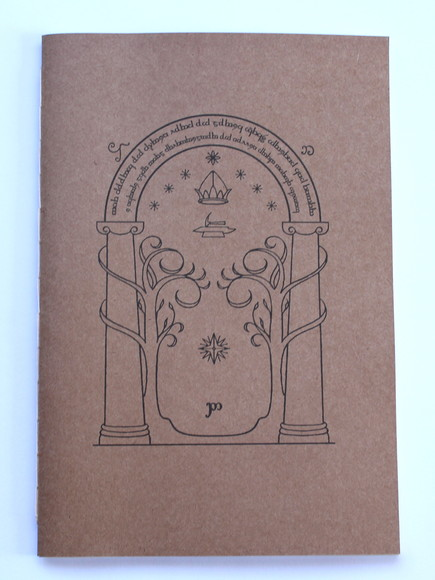 Caderno capa flexível kraft - Doors of Durin - Pontilhado