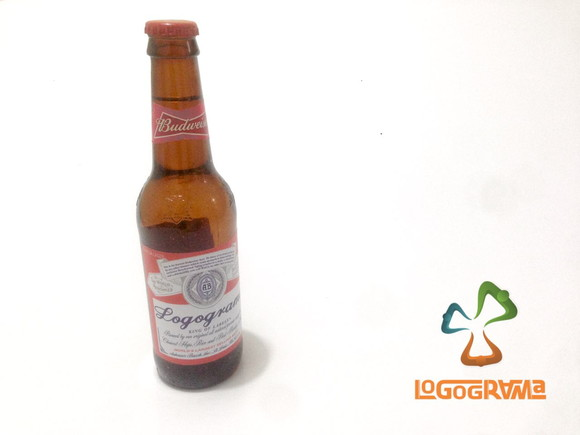 35ff3ba411c93 Adesivo Rotulo Budweiser Personalizado Garrafa Long Neck   Elo7