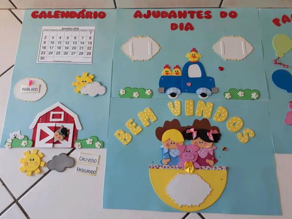 kit sala de aula fazendinha evaleria artesanato em e v a