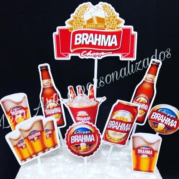 Topo De Bolo Brahma Elo7