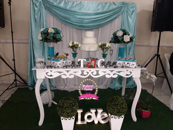 Decoração de Casamento Azul Tiffany   Elo7 3d3a46b1e9