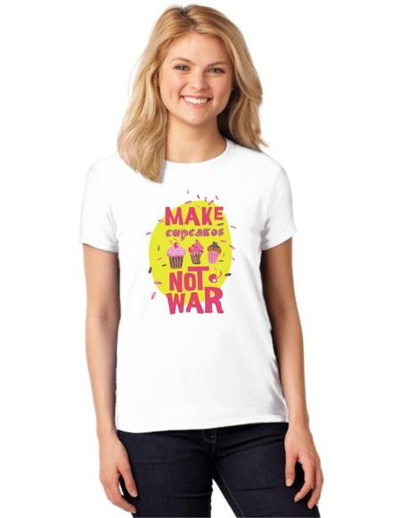 T Shirt Camiseta Feminina Kawaii Cupcake  01c37bfb82b94