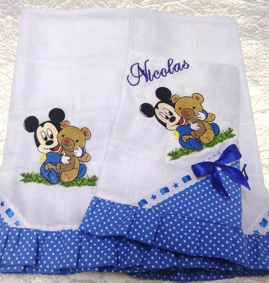 Kit de Fraldas Mickey Baby