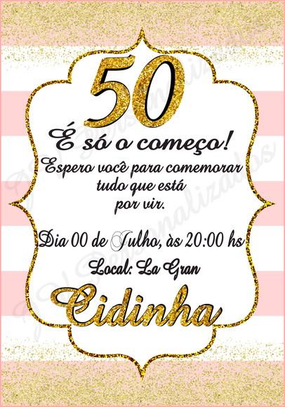Convite 50 Anos Elo7