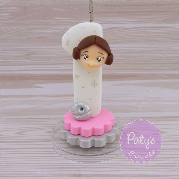 Vela decorada Princesa Leia- Star Wars