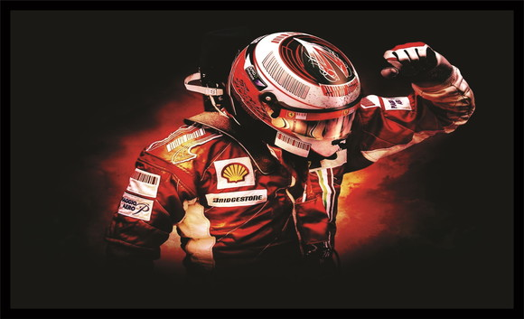Quadro Decorativo Piloto Michael Schumacher F1 016