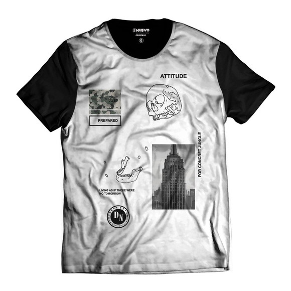 1a74d1f250 Camisa Empare State Skull