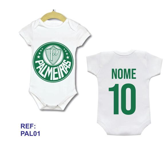 533ca3707a Body Bebe Infantil Personalizado Camisa Palmeira.S Com Nome no Elo7 ...