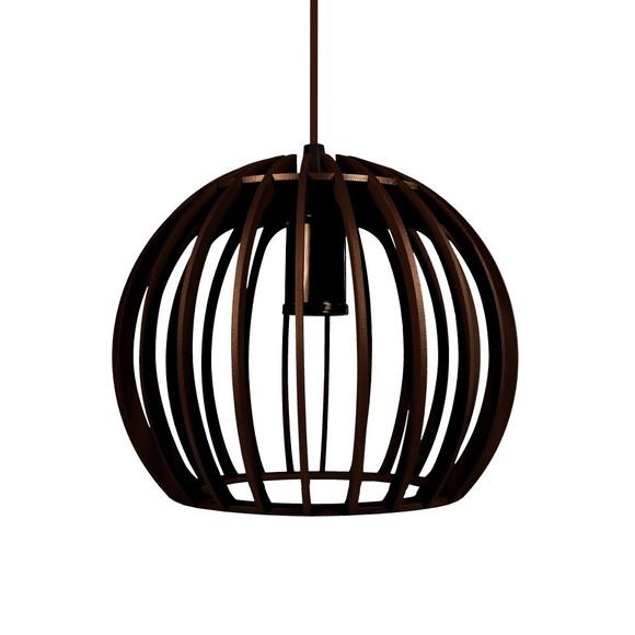 Luminária de teto pendente madeira no Elo7 Lustres Molnar Design Iluminaç u00e3o (C3FAE7)