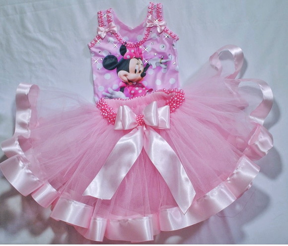 Conj. collant e saia tutu Minnie
