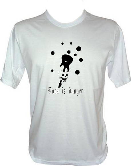 camiseta rock is danger