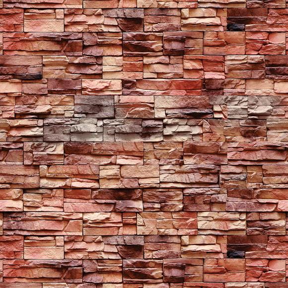Papel De Parede Pedra Arenito Vermelho No Elo7