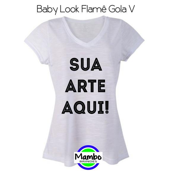 391d3c9f95 Camisetas Baby Look Flame Gola V Personalizadas