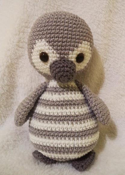 Pinguim Fred _ Receita   Padrões de crochet natal, Pinguim de ...   580x415