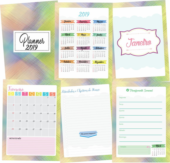 Miolo Digital Planner 2019 Colors