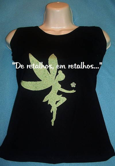 camiseta customizada fada