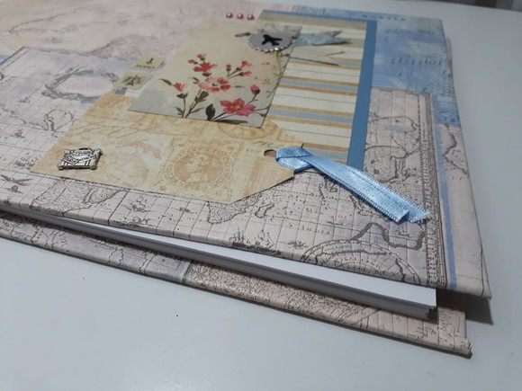 SCRAPBOOK - Album Férias - PRONTA ENTREGA