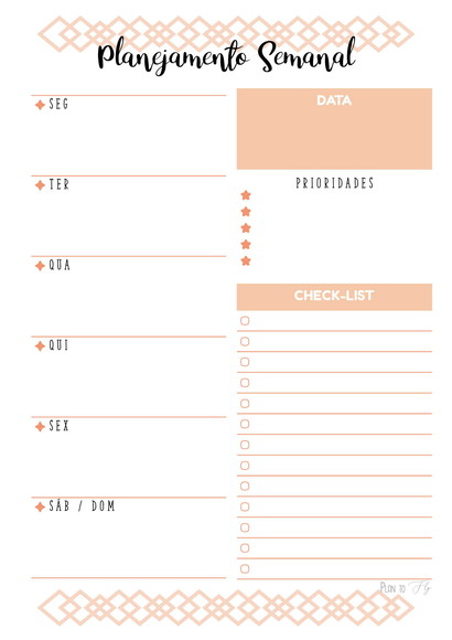 PLANNER SEMANAL Vertical PDF no Elo7 | Plan to Fly (DEBE9A)