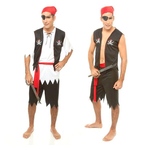 19db9a276 Fantasia Marinheiro e Pirata do Caribe Kit com 2