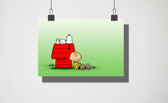 Poster A4 Charlie Brown Minimalista Elo7