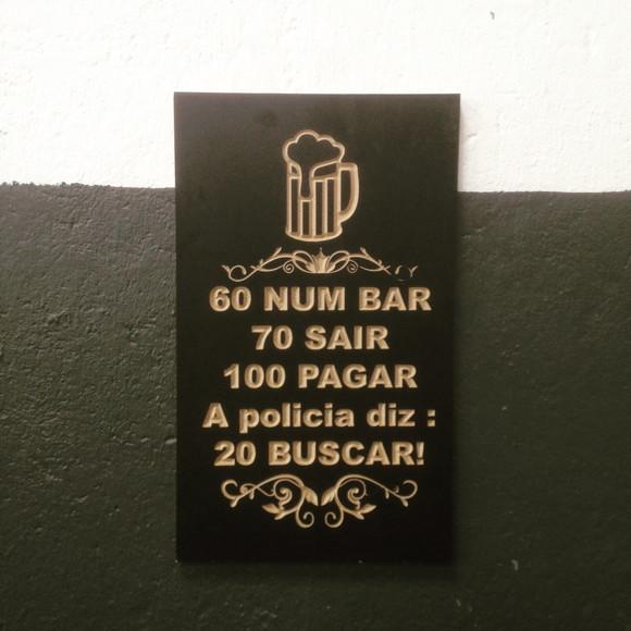 Placas Com Frases De Bar Elo7