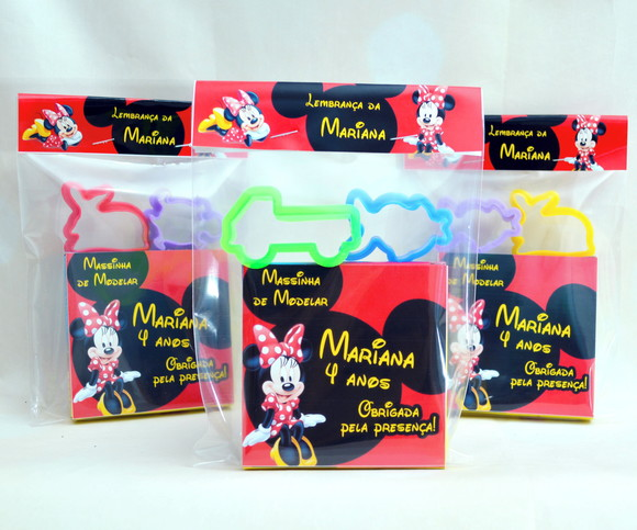 Kit Massinha Minnie Vermelha Personalizada