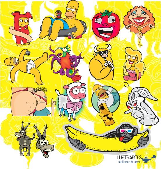 Desenhos Simpsons Vetores No Elo7