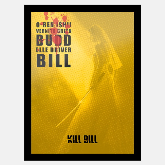 Quadro Kill Bill Uma Thurman Film by Quentin Tarantino