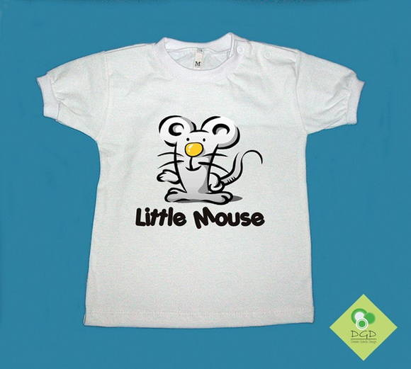 T-Shirt Bebê e Infantil LITTLE MOUSE