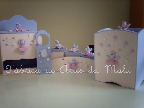 Kit quarto Rosa e Lilás ursa bailarina Fábrica de  ~ Quarto Rosa Com Lilas Combina
