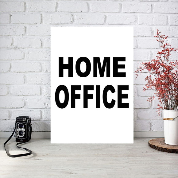 Poster digital arte para quadros - Home Office