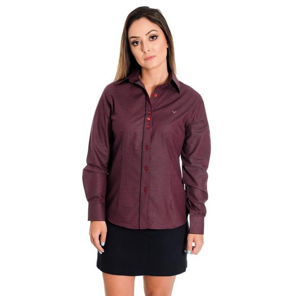Camisa Social Feminina Désireé - Pimenta Rosada FIO EGÍPCIO no Elo7 ... 9c59d0f92f